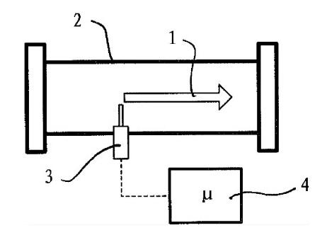 带金属封装传感器装置的热式质量流量计
